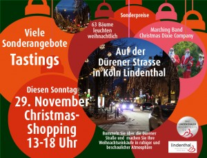 Sonntag 29. November Christmas-Shopping und Lichterfest
